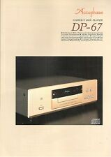 Accuphase dp-67 Catalogo Prospetto Catalogue datasheet brochure de