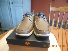 Sperry STS14747 Gold Ultralite 2-Eye Grey Men's Boat Shoes Size 8 US NEW IN BOX