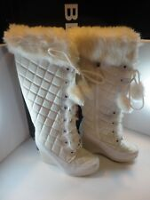"BEBE Sport Woman's ""Be Sexy II"" Sz. 7 White Lace-Up Boots"