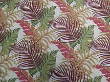 Sanderson Curtain Fabric  'Manila' Mulberry/Sand 2.6 METRES (260cm) Linen Blend