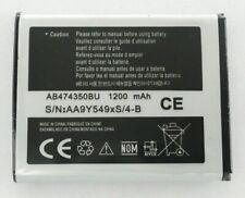 GENUINE SAMSUNG AB474350BU BATTERY for GALAXY 5 EUROPA G810 GT-i5500 1200mAh