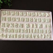 64 Pcs Alphabet Lower Upper Case Letter Number Cake Mold Fondant Decorating Tool