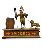 ANTIQUE / VINTAGE STYLE CAST IRON MECHANICAL TRICK DOG MONEY BOX BANK