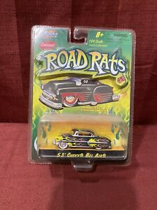 Jada Road Rats 53 Chevy Bel Air 1:64 Rubber Tires Flame paint job New in package