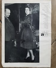1958 Lilli Ann women's fashion coat Vicomtesse d'Harcourt ad