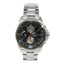 Seiko Criteria SNDB21 P1 Silver Black Dial Men's Chronograph Quartz Watch