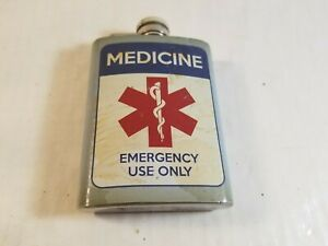 Wembley Flask Medicine Emergency Use Stainless Steel Liquor Container 4 Ounce