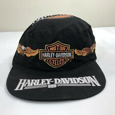 Vintage Harley Davidson Hat Pillbox Painter 70s 80s Cap Biker Trucker Big Logo