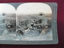 Stereoview Keystone View Co. Down In A Shell Crater Battle Cambral WWI (O) AS IS