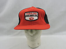 Vintage Trucker Hat Ball Cap Black Red Snapback Carolina Freight Carriers CEC