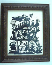 Scherenschnitte SILHOUETTE PAPER CUTTING 1989 Signed Mother Goose Nursery Rhymes
