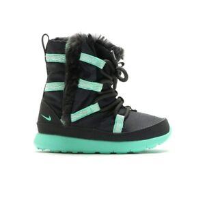 Nike Roshe One HI SE TDV 859416-002 Baby Toddler Boots NEW Grey Green Glow
