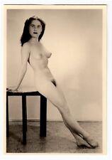 #616 RÖSSLER AKTFOTO / NUDE WOMAN STUDY * Vintage 1950s Studio Photo - no PC !