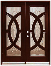 """Exterior Front Entry Double Wood Door 705A 36""""x80""""x2 Right Hand Swing In"""