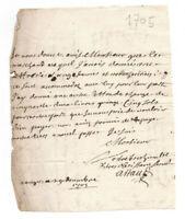 1705 manuscript letter handwritten