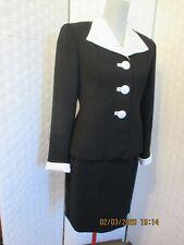 Laura Madrigano Black Skirt Blazer Suit  size 6 P