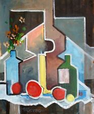 """""""STILL LIFE WITH A GUITAR"""" original acrylic  painting Micheal W. Jones #19_27"""