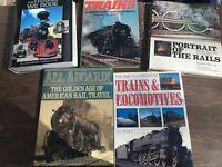Lot of 5 very good Hardcover Railroad books - development riding visual