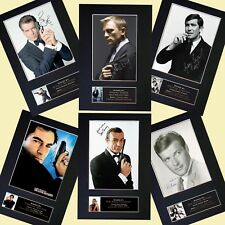 JAMES BOND 007 SPECIAL OFFER Autograph Mounted Prints All 6 Actors