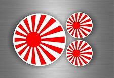 3x Aufkleber auto motorrad tuning flaggen japan jdm dib stickerbomb rising sun