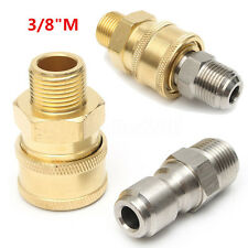 """Pair 3/8"""" Quick Release Adapter To 3/8"""" Male Coupling Pressure Washer Connector"""