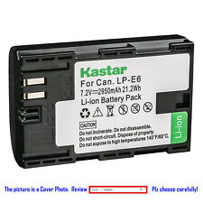 Kastar Battery Super Fast Charger for Canon LP-E6 & Canon EOS 7D SV Canon Grip