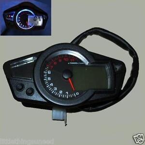 Motorcycle Digital Odometer Speedometer Tachometer KPH & MPH Kawasaki Suzuki