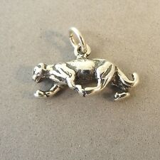 .925 Sterling Silver 3-D PANTHER CHARM NEW Pendant Cougar Big Cat Puma 925 AN70