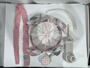 My Baby Sam Olivia Rose Mobile Music Player With Pink And Grey  Rotating Birds