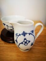 KAHLA GDR, VINTAGE German Ceramic Milk And Sugar Set. Kobaltunterglasw.