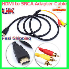 1.5 M HDMI macho a 3 RCA Video Audio Converter Adaptador Cable AV por componentes HDTV UK