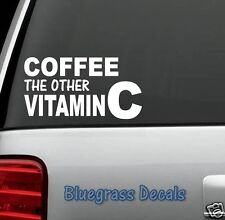 C1048 COFFEE FUNNY Decal Sticker for Car Truck SUV Van KITCHEN FLEX BREW KEURIG