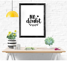Inspirational Prints, Motivational Posters, Wall Art Quote A4