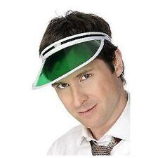Green Poker Sun Visor Pub Golf Hat Adults Fancy Dress Accessory