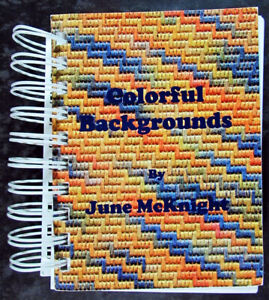 2x Needlepoint Book  Colorful Backgrounds/Quick Stitch Variations-SG1