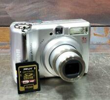 Canon PowerShot A550 7.1 MP 4x Optical Zoon Digital Camera Silver & 4 GB SD Card