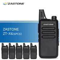 6pcs Zastone ZT-X6 UHF 400-470MHz Two Way Radio 16CH Mini Handheld Walkie Talkie