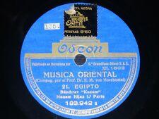ETHNIC 78 rpm RECORD Odeon EGYPT Musica Oriental BASCHRAV KUZUM Maqam Hijaz