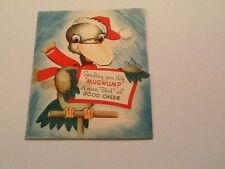 Vintage Greeting Card Christmas Silly Bird and Beak