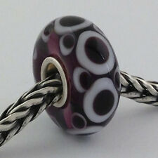 Authentic Trollbeads Ooak Universal Unique (30) Murano Glass Bead Charm Fits All