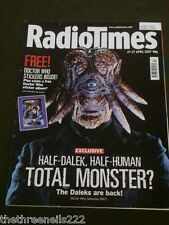 RADIO TIMES - DOCTOR WHO - THE DALEKS ARE BACK - APRIL 21 2007