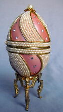 Authentic Goose Tiffany Egg, Music Trinket Box, Kingspoint Designs, Pink, 9771