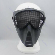 Protector Safety Guard Mesh Mask Full Face Eyes Paintball Airsoft Gear Nose Wear