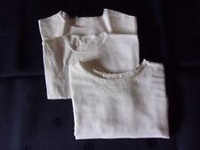 Lot de 3 chemises bébé anciennes faites à la main (vintage années 50-60)