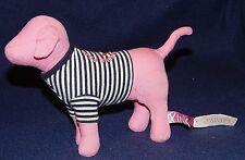 "7"" Victoria Secret Port Au Pink Living The Good Life Plush Dog w/ Tags"