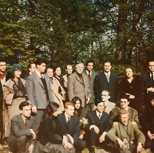 Andre Breton and Surrealist group !! Color photo in France , Desert of Rez,1960.