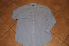 Polo Ralph Lauren Blue Striped Multi-Color Pony Dress/Casual Shirt L 16.5-33