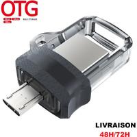 Clé Usb 128 / 32 Go Gb Micro Otg Flash Drive Pendrive Smartphone Android/PC