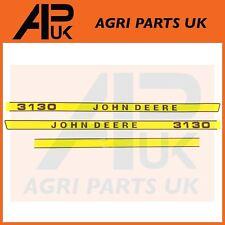 John Deere 3130 Tractor Hood Bonnet Decal Sticker Set Kit Emblem Transfers