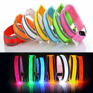 LED Flashing Light Warning Reflective Running Hand Strap Arm Band Sports Jogging